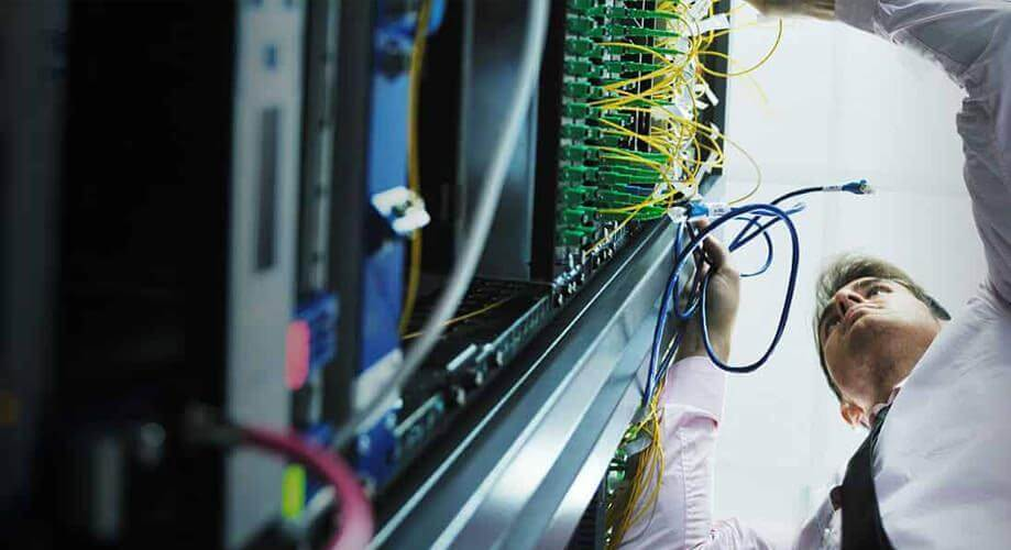 A photo of engineers working at Cyber Host Pro