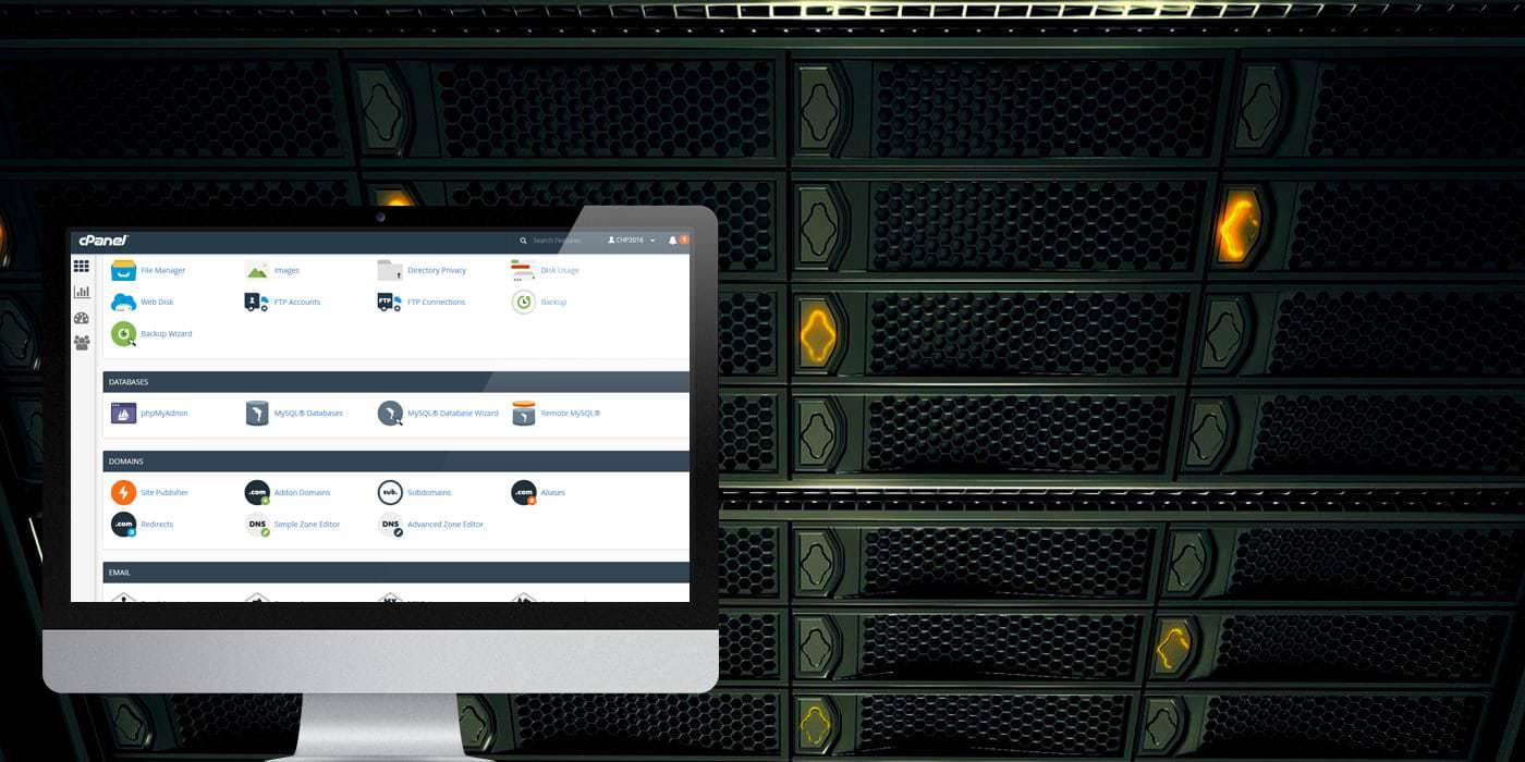 A photo of cPanel hosting control panel - Cyber Host Pro