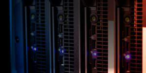A photo of a dedicated server at Cyber Host Pro