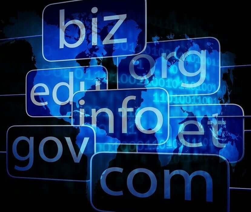 Lots of different domain names