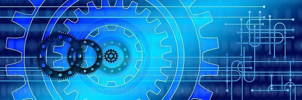 Interlocking cogs showing website security