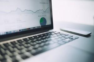 laptop showing business startup website